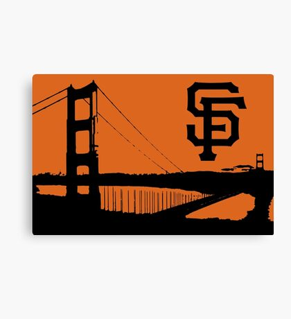 San Francisco Giants and the Golden Gate bridge Canvas Print