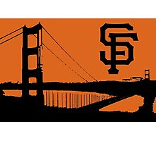 San Francisco Giants and the Golden Gate bridge Photographic Print