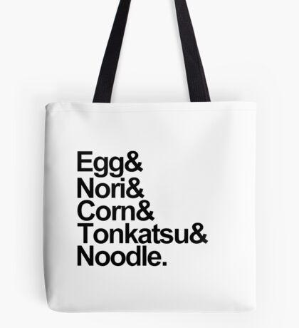 Helvetica Tonkatsu Ramen Tote Bag