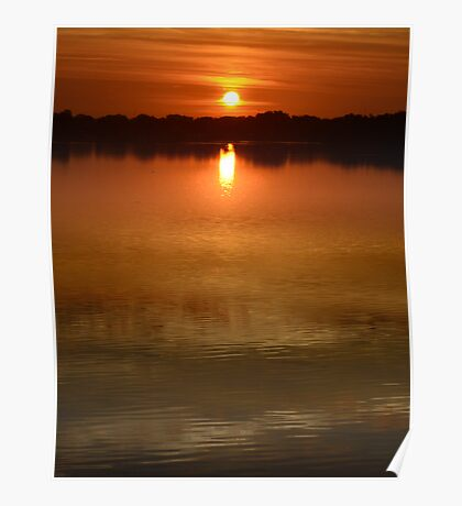 Clear Lake Sunrise Poster