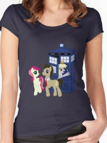 Dr. Whooves Design Women's Fitted Scoop T-Shirt