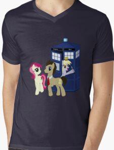 Dr. Whooves Design Mens V-Neck T-Shirt