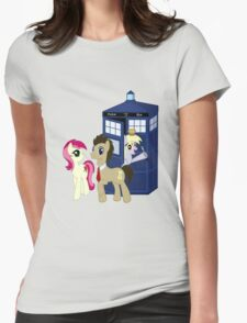 Dr. Whooves Design Womens Fitted T-Shirt