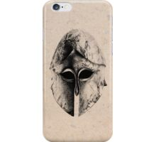 Greek Helm in Pen and Ink iPhone Case/Skin