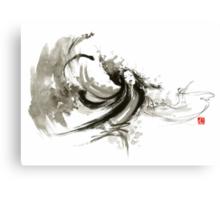 Geisha dancer dancing girl Japanese woman original painting  Canvas Print