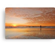 """Catching"" the Sunrise -Main Beach Qld Australia Canvas Print"