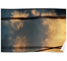 Storm Clouds as Seen through Overhead Electric Wires Poster