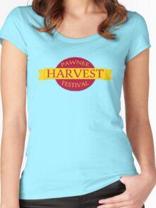 Pawnee Harvest Festival logo Women's Fitted Scoop T-Shirt