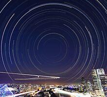 Startrail II | Brisbane City by NickVerburgt