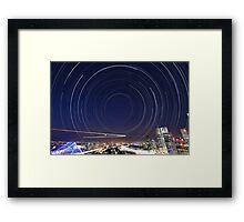 Startrail II | Brisbane City Framed Print