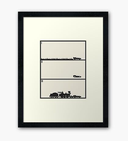 Back to the Future Trilogy - Beige Framed Print