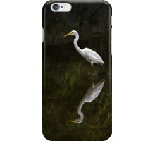 Reflected egret for iPhone iPhone Case/Skin