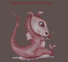 'I love you just as you are' Red Dragon, small friend Kids Clothes