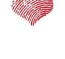 Red Heart Fingerprint by GenerationShirt