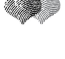 Two Hearts Fingerprint by GenerationShirt