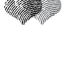 Two Hearts Fingerprint by GenerationShirt