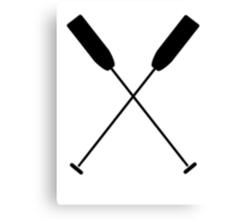 Paddles Crossed / Dragonboat Canvas Print