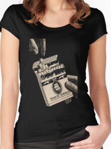 The Perfection Of Cigarette Luxury Women's Fitted Scoop T-Shirt