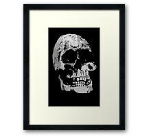 Grunge Cool Skull T-Shirt Design Framed Print