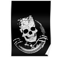 Grunge Skeleton Funny Design T-Shirt Poster