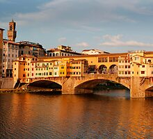 Bridge across the river Arno Florence by jwwallace