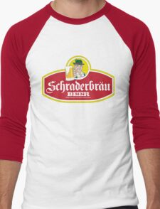 Schraderbrau Logo Men's Baseball ¾ T-Shirt
