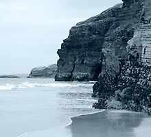 high cliffs on the irish coast by morrbyte
