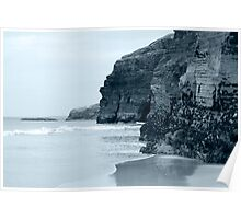 high cliffs on the irish coast Poster