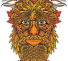 Autumnal Green Man by MSD1138