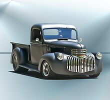 1942 Chevy Pick-Up 'Black Satin' by DaveKoontz