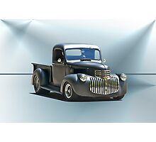 1942 Chevy Pick-Up 'Black Satin' Photographic Print