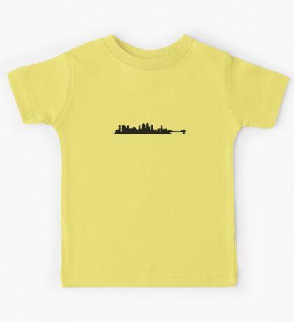 Brisbane Skyline - for light shirts Kids Tee