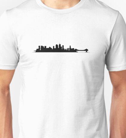 Brisbane Skyline - for light shirts Unisex T-Shirt