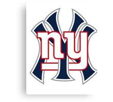 Ny Yankees Ny Giants Mashup Canvas Print