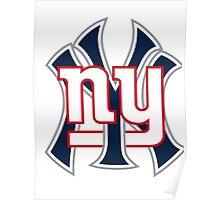 Ny Yankees Ny Giants Mashup Poster