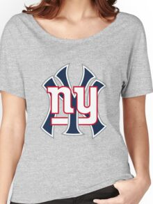 Ny Yankees Ny Giants Mashup Women's Relaxed Fit T-Shirt