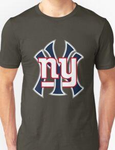 Ny Yankees Ny Giants Mashup Unisex T-Shirt