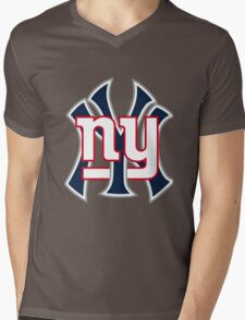 Ny Yankees Ny Giants Mashup Mens V-Neck T-Shirt