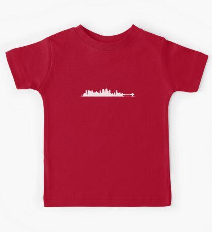 Brisbane Skyline - for dark shirts Kids Tee