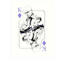King of Blue Diamonds Art Print