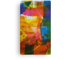 Screen Print of miscellaneous items Canvas Print