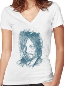 DARYL DIXON Women's Fitted V-Neck T-Shirt