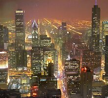Chicago from the 96th floor by ArtByRuta