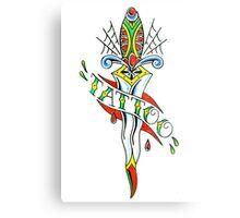 Tattoo Dagger Metal Print