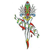 Tattoo Dagger Photographic Print