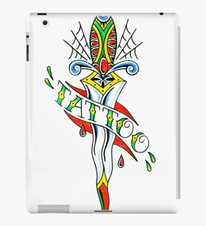 Tattoo Dagger iPad Case/Skin