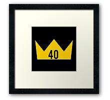 40 King Framed Print