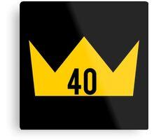 40 King Metal Print