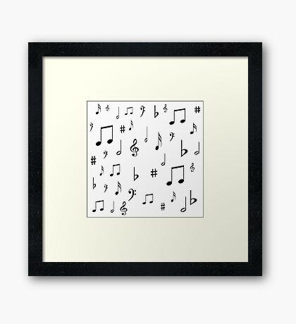 Music Notes & Symbols Framed Print