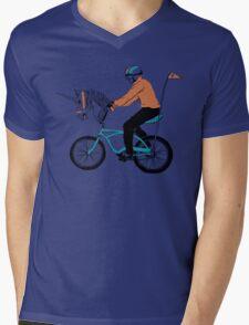 Unicycle Mens V-Neck T-Shirt